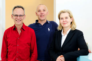 Kinderarzt Gruppenfoto in der Praxis in Köln